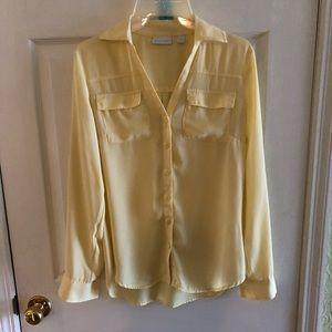 New York & Company yellow blouse